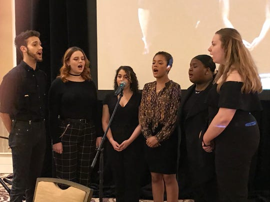 Members of the Franklin High School choir perform during the 23rd annual Franklin Township Community Breakfast
