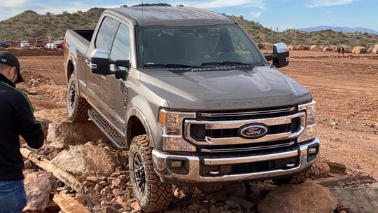 The 2020 F-250 Tremor has extra equipment for off-roading.