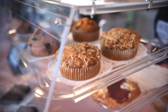Fresh muffins are served at Anastasia and Katie's Coffee Shop and Cafe, Livonia.