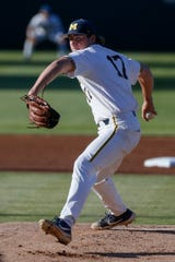 Pitcher Jeff Criswell (A's, No. 58 overall) played high school baseball at Portage Central.