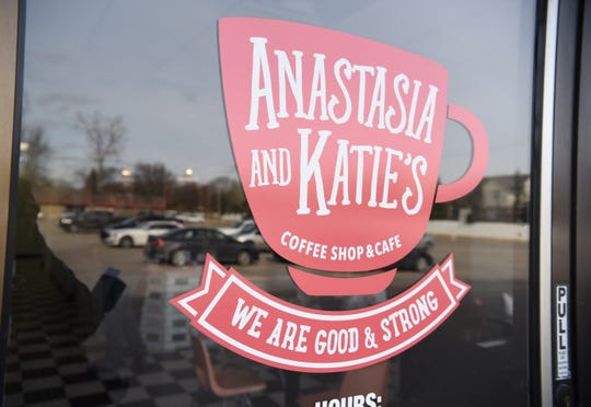 Signage at Anastasia and Katie's Coffee Shop and Cafe, Livonia, works with the MI Work Matters program, a nonprofit organization dedicated to providing employment opportunities for people with developmental disabilities.