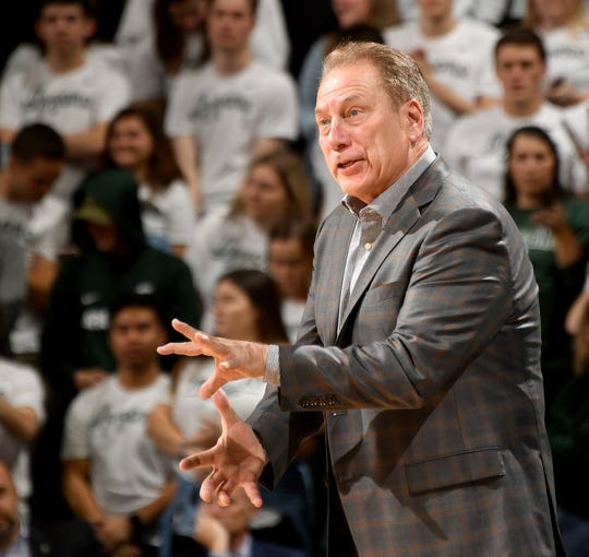 Tom Izzo and Michigan State used their 12-point victory on Friday at home against Wisconsin to move up in the latest Associated Press Top 25 poll released on Monday.