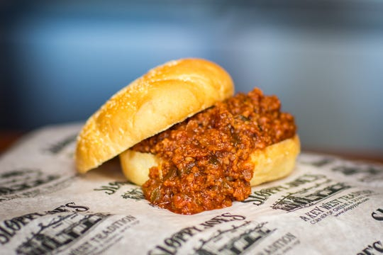 There are many recipes for Sloppy Joes and many versions of the sandwich's history. But this one, created at Sloppy Joe's Bar, a Hemingway hangout in Key West, Florida, is thought to be one of the earliest.  Based on a loose-meat sandwich from Havanna and named by Papa himself, it's on the menu at three Sloppy Joe's Bar concessions at Miami's Hard Rock Stadium.