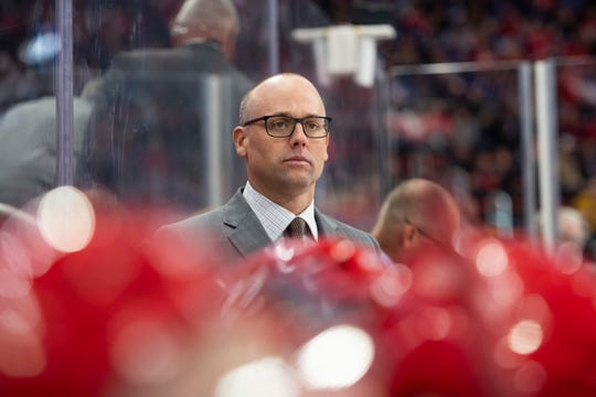 """Red Wings coach Jeff Blashill said he had """"great memories"""" of watching of the Wings-Avs rivalry as a fan."""