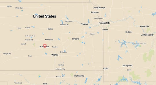 Hutchinson, Kansas, was the location of a 4.5 magnitude earthquake Sunday.