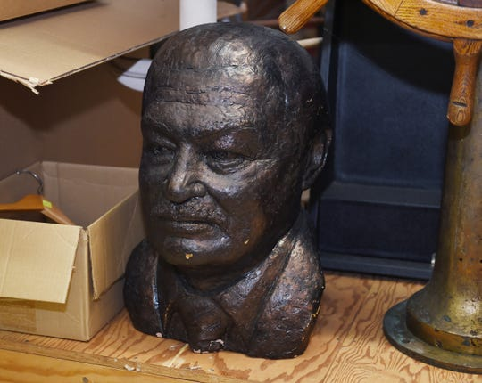 A bronze bust of former Detroit Mayor Coleman Young sits among the 300,000-plus piece collection of Detroit artifacts kept at historic Fort Wayne.