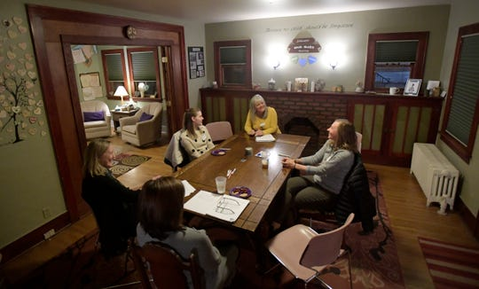 Staff lead a volunteer training session at 3Hopeful Hearts in Fort Collins, Colo. on Thursday, January 16, 2020. The Fort Collins nonprofit that supports grieving parents needs help finding a home to continue its work.