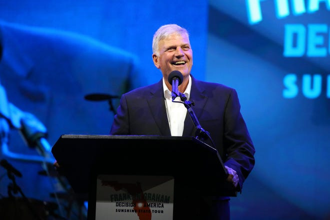 Evangelist Franklin Graham at Hertz Arena in Estero, Florida, in this file photo.