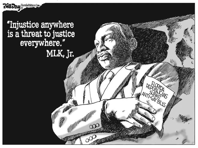 "MLK on ""injustice anywhere.'"