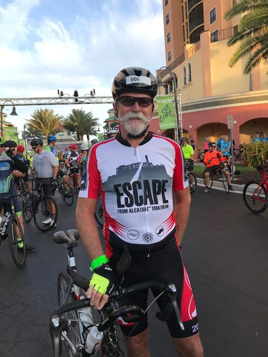 Dr. Bobby Dickerson competed in Sunday's cycling events in the Tour De Cape and finished second in his age group in Saturday's 5K.