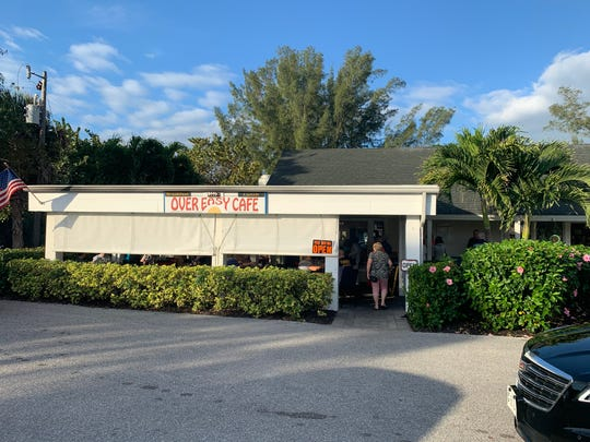 Over Easy Cafe sits at the intersection of Periwinkle and Tarpon roads on Sanibel.