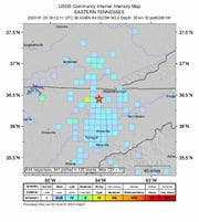 A 3.6 earthquake in Campbell County was felt in Blount, Knox and Anderson Counties.