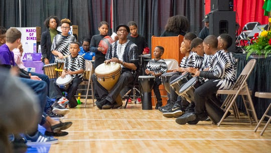 Herbert Green's musical group, Pucci Percussion, performs Monday, Jan, 20, 2020.
