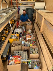 West Shore Home donates 675 pounds of food to Dare to Care.