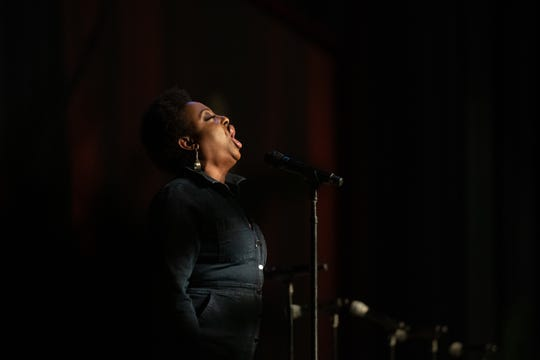 International recording artist Ledisi performs Monday, Jan. 20, 2020, during the 35th Annual Martin Luther King Jr. Day of Celebration Luncheon at the Lansing Center.