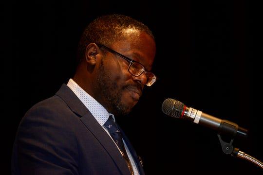 Dr. Austin McCoy, assistant professor at Auburn University served as Monday's keynote speaker.