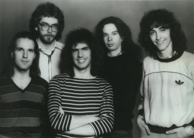 Wausaukee native Lyle Mays (second from right) poses with jazz fusion band the Pat Metheny Group for this publicity photo in 1983. Mays, 66, died Monday morning.