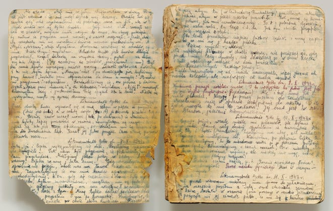 Pages from the diary of Rywka Lipszyc, a teenager in Auschwitz, are part of an exhibit making its U.S. premiere at Jewish Museum Milwaukee.