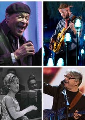 Among the most impactful Wisconsin-born musicians of all time (from top left): Al Jarreau, Bon Iver's Justin Vernon, Steve Miller and Hildegarde.