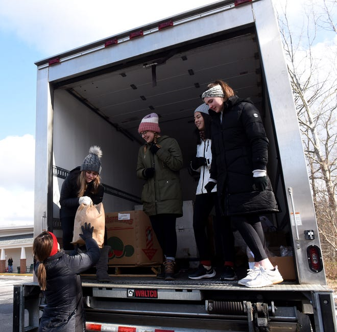 The annual Martin Luther King Day Feed the Dream Community Food Drive was held on Monday, Jan. 20, 2020, at Ross' Granville Market in pre-pandemic times. The drive collected food and monetary donations for the Food Pantry Network Serving Licking County.