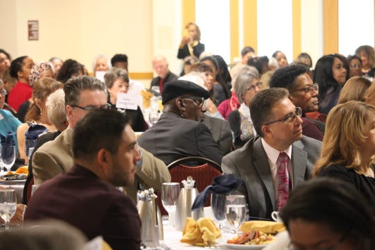 Guests listen to a lineup of speakers at the annual Martin Luther King Jr. Day Breakfast in Las Cruces on Jan. 20, 2020.
