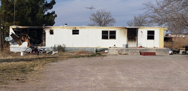 Fire crews were not able to save a mobile home  in the 400 block of N.M. Highway 192 that went up in flames on Sunday, Jan. 19, 2020.