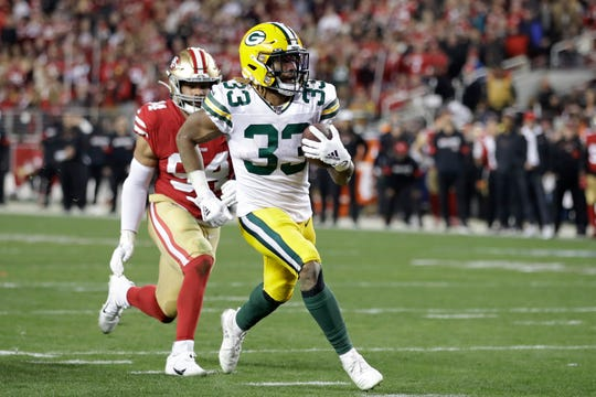 Packers running back Aaron Jones could be line for a big pay day.