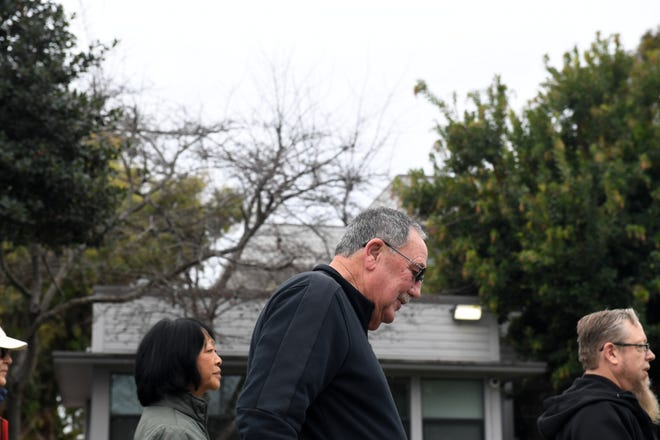 Mayor Joe Gunter marches at the Martin Luther King Day march, Jan. 20, 2020.