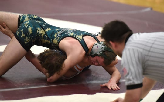 Wilson Memorial's Matthew Holmes won the 138-pound title at The News Leader's 31st wrestling tournament Saturday, Jan. 11.
