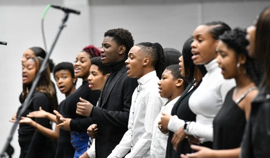 Known Community Youth Choir members perform Monday, Jan. 20, 2020, during the Martin Luther King Jr. Breakfast and Day of Service program at the River's Edge Convention Center in St. Cloud.