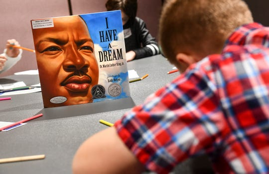 Children take part in a King's Kids activity Monday, Jan. 20, 2020,  at the River's Edge Convention Center in St. Cloud.