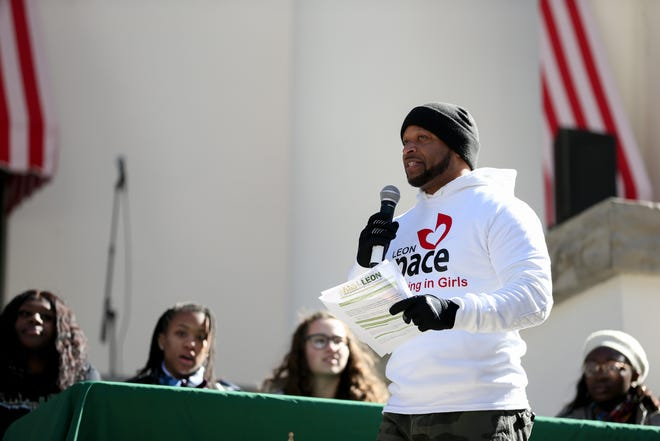 """A program called """"Silence is Not an Option,"""" which included a panel of local students, gave youth a chance to address their concerns about the community in front of community leaders such as the police chief, mayor, school superintendent and the sheriff after the Martin Luther King Jr. commemorative rally in the Capitol Courtyard Monday, Jan. 20, 2020."""