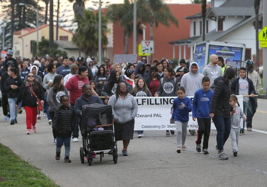 Community members from all over California participated in the Freedom March to celebrate the Rev. Martin Luther King Jr. on Monday in Oxnard.