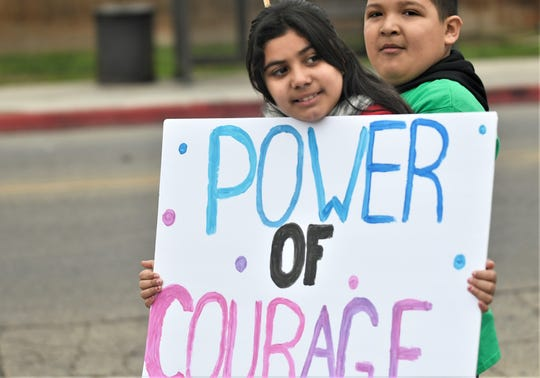 """Boys and Girls Clubs of the Sequoias held its annual MKL march in honor of Martin Luther King Jr. Day on Monday, January 20, 2020. Every year, members and staff from Visalia, Tulare, Exeter, Ivanhoe, Strathmore and Farmersville march from the Visalia clubhouse to downtown as a """"united"""" group. Members then do a service project in their community."""