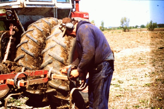 When things weren't going well, I was there to bring Bob parts and tools.  Bob's final year of farming was 2018. Being on the land was work he loved, even with breakdowns.