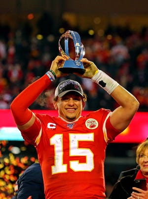 Image result for Patrick Mahomes Super Bowl Photos""