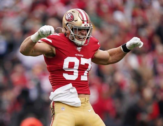 San Francisco 49ers defensive end Nick Bosa