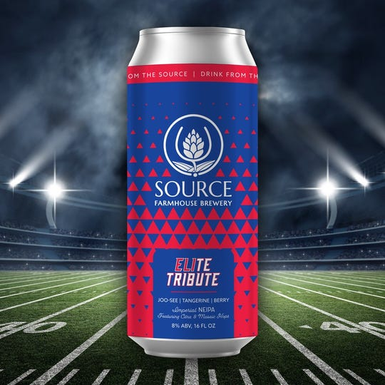 ELIte Tribute by Source Brewing in Colts Neck is a new craft beer tribute to New York Giants quarterback Eli Manning.