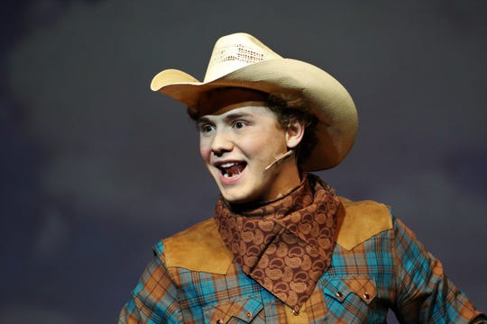 "Brent Bardin, who was Buddy in ""Elf, the Musical, Jr."" at the Paramount Theatre last January, is part of a large cast for Abilene High School's production of ""Oklahoma!"" on Friday and Saturday at the AHS auditorium. The Paramount offers ""Frozen Jr."" this weekend, too."