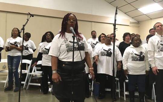 Ruth Jones, director and soloist with the MLK Community Choir, performs at the 26th annual Martin Luther King Jr. Day celebration at Kitsap County Fairgrounds on Jan. 20, 2020.