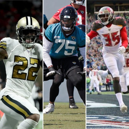 Cocoa High's trio of, from left, Chauncey Gardner-Johnson, Jawaan Taylor and Jamel Dean  have been honored on NFL All-Rookie squads..