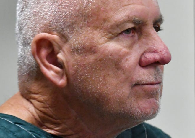 Robert Eugene Koehler at his first appearance before Judge David Silverman via closed circuit at the Brevard County Jail in Sharpes, Florida. Several law enforcement agencies believe the 60-year-old Palm Bay, Fl. man to be the infamous Pillow Case Rapist, who is thought to have attacked over 40 victims when in South Florida in the early 1980s. He was arrested on Saturday, January 18, 2020. First appearance was 1:15pm, January 21.