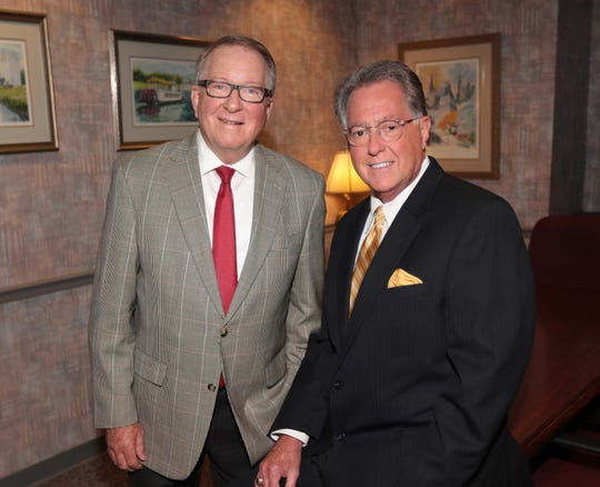 Frank Lott, left, and Jeff Bibb remain permanent friends as they continue working for Clarksville.