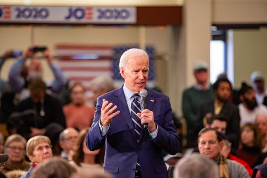 Democratic presidential candidate former Vice President Joe Biden speaks during a campaign event in Ames Tuesday, Jan. 21, 2020.