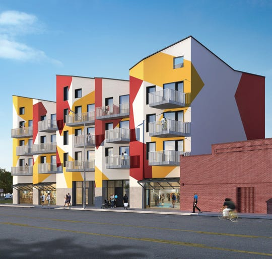 A rendering of the future Osi Art Apartments