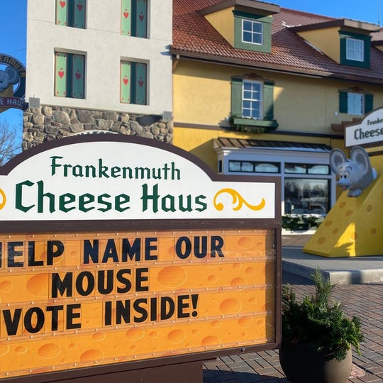Frankenmuth's Cheese Haus is having a contest to name its mouse