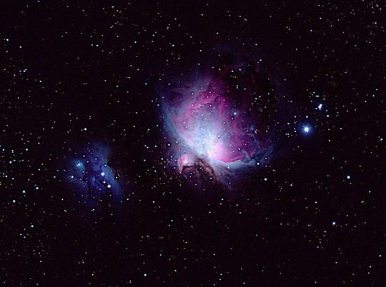 Orion and Running Man Nebula view from Dr. T.K. Lawless Park.