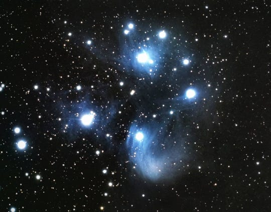 Pleiades Star Cluster view from  Dr. T.K. Lawless Park which has been designated as an International Dark Sky Park.