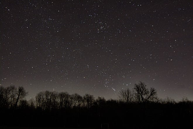 Eastern horizon at Dr. T.K. Lawless Park which has been designated as an International Dark Sky Park.