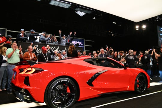 2020 Corvette Stingray VIN 0001 was auctioned for $3 million at Barrett-Jackson to benefit charity.